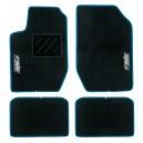 Tapis Easy Type C Moquette Noir Bord bleu gris ou rouge