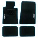 Tapis Easy Type D Moquette Noir Bord bleu gris ou rouge