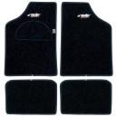 Tapis Type A Moquette Noir Bord noir bleu rouge gris ou  chrome  SIMONI RACING