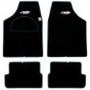 Tapis Type B Moquette Noir Bord noir bleu rouge gris ou  argent SIMONI RACING